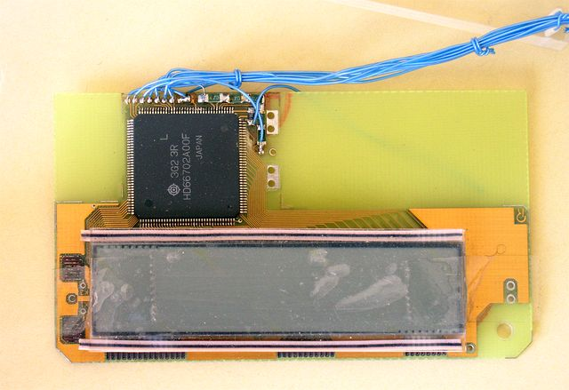 Zmontowany LCD i kontroler - HD66702 firmy Hitachi - 1993, Elboxrf