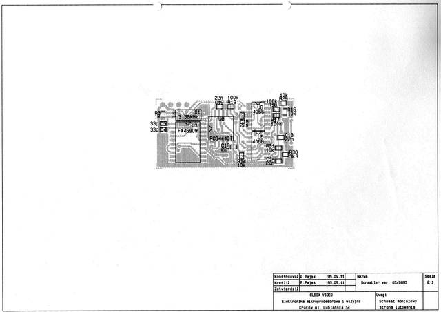 Skrambler radiowy, część analogowa - radiotelefoniczny koder mowy - 1994, Elboxrf