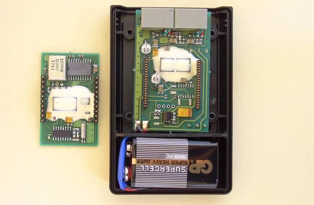 Odłączone moduły miniaturowego skramblera telefonicznego - 1994, Elboxrf